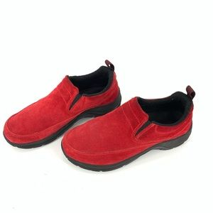 L.L. Bean red slip ons in size 7